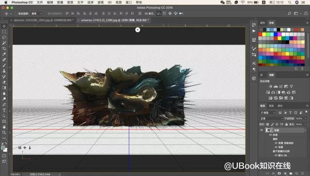 3D工具,用PS中的3D工具做出炫彩效果图片_www.16xx8.com