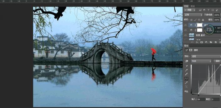 曲线修图,用曲线调整灰暗照片的使用方法_www.16xx8.com