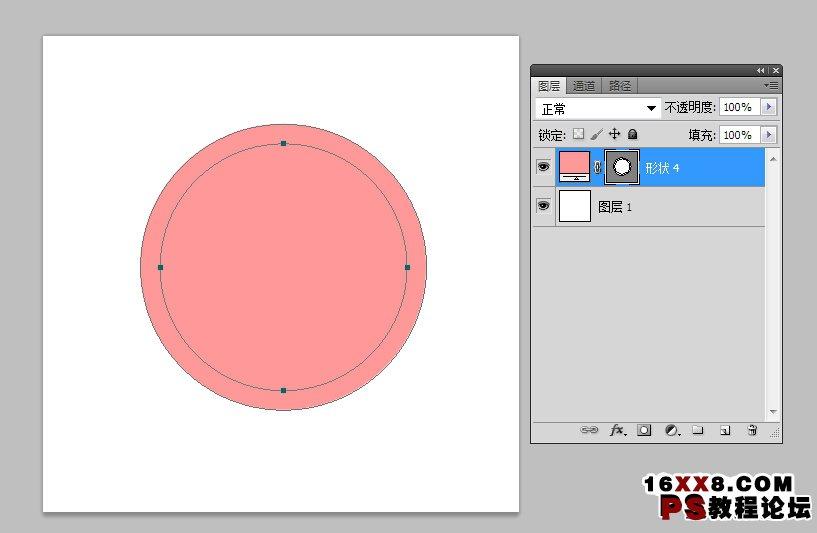 wwwxxcc_新手教程,如何在ps里画圆环_www.16xx8.com