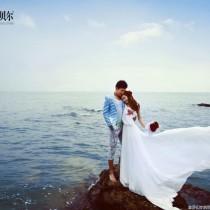 浪漫海边婚纱照