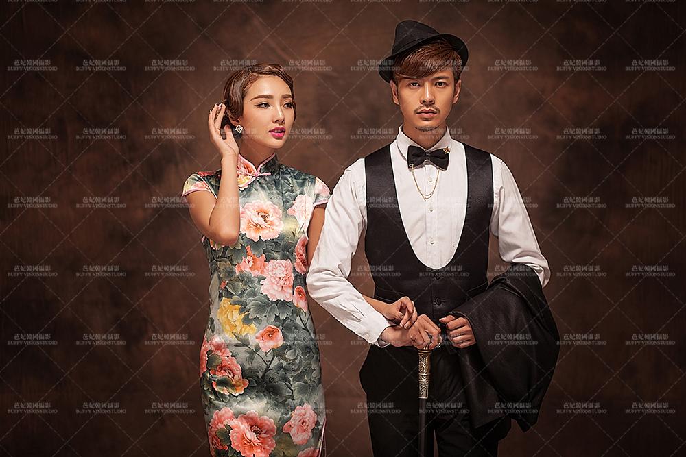 复古旗袍 南京芭妃高端婚纱摄影图片